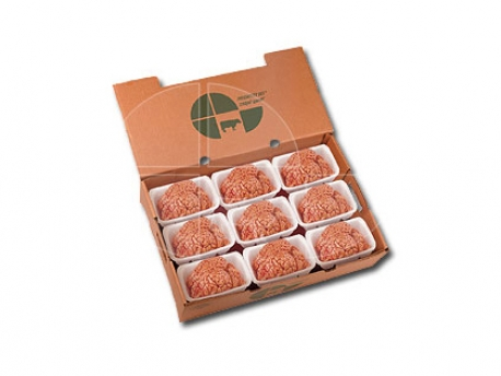 Brains: in trays 1x1, in cardboard boxes of 18 units